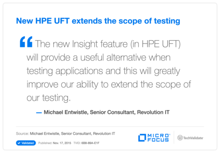 New HP UFT extends the scope of testing