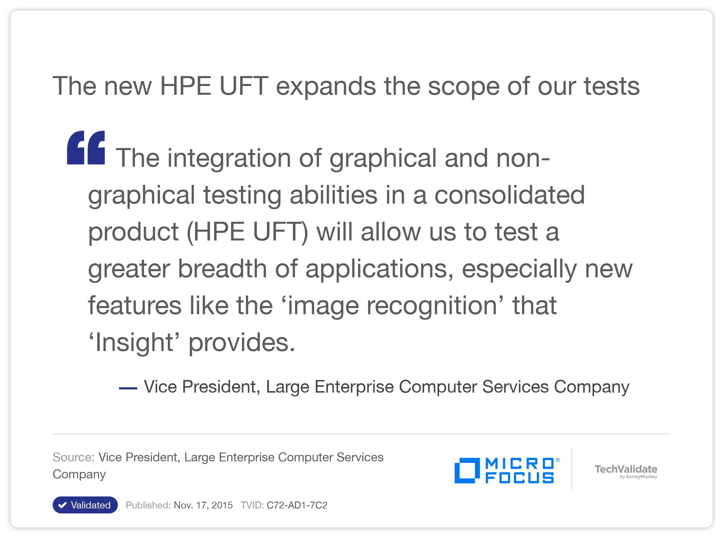 The new HP UFT expands the scope of our tests