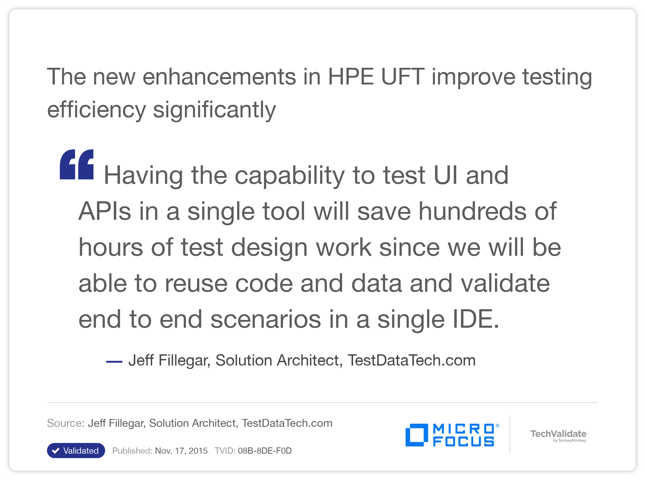 The new enhancements in HP UFT improve testing efficiency significantly