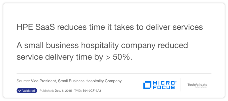 HP SaaS reduces time it takes to deliver services