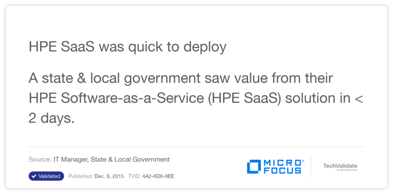 HP SaaS was quick to deploy