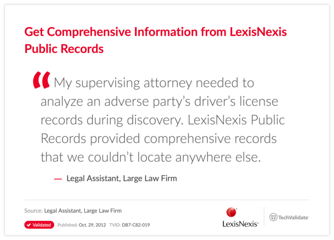 Get Comprehensive Information from LexisNexis Public Records