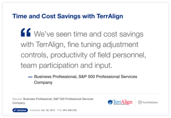 Time and Cost Savings with TerrAlign