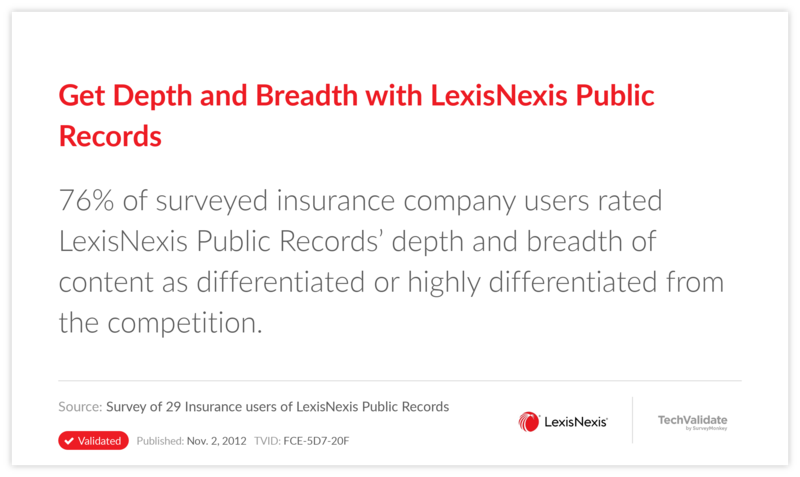 Get Depth and Breadth with LexisNexis Public Records