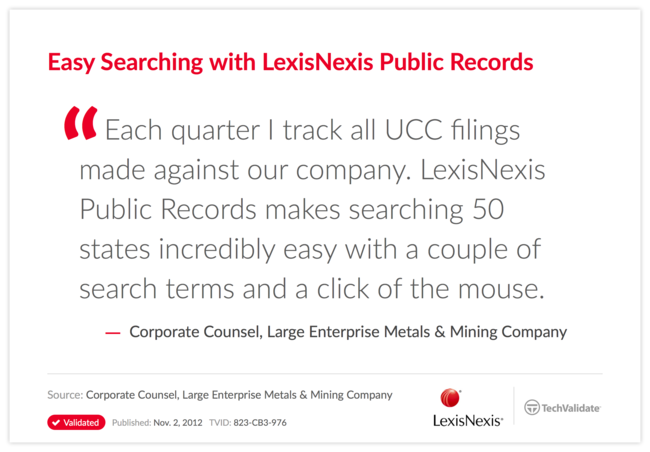Easy Searching with LexisNexis Public Records