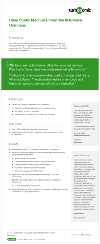 Case Study: Medium Enterprise Insurance Company