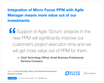 Integration of HP PPM with Agile Manager means more value out of our investments