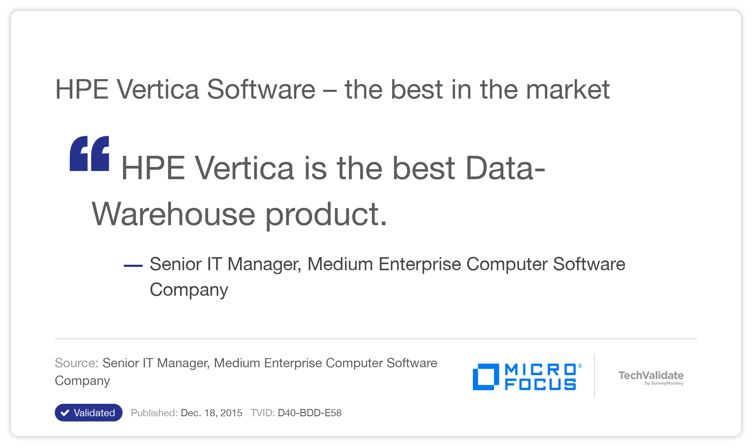 HP Vertica Software - the best in the market