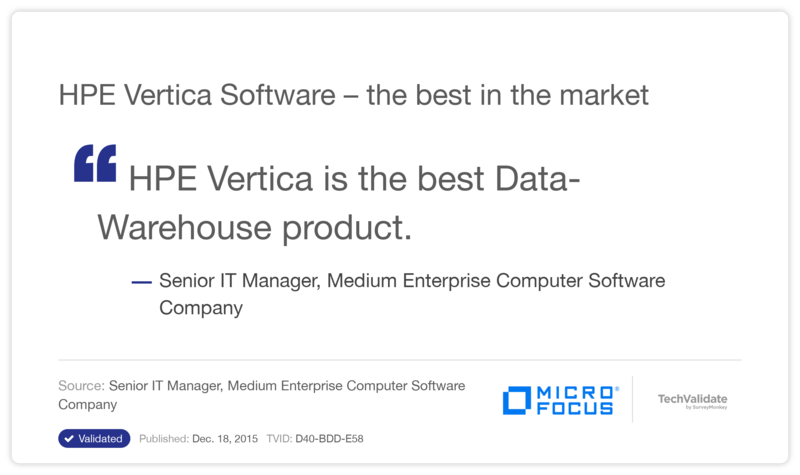 HPE Vertica Software - the best in the market