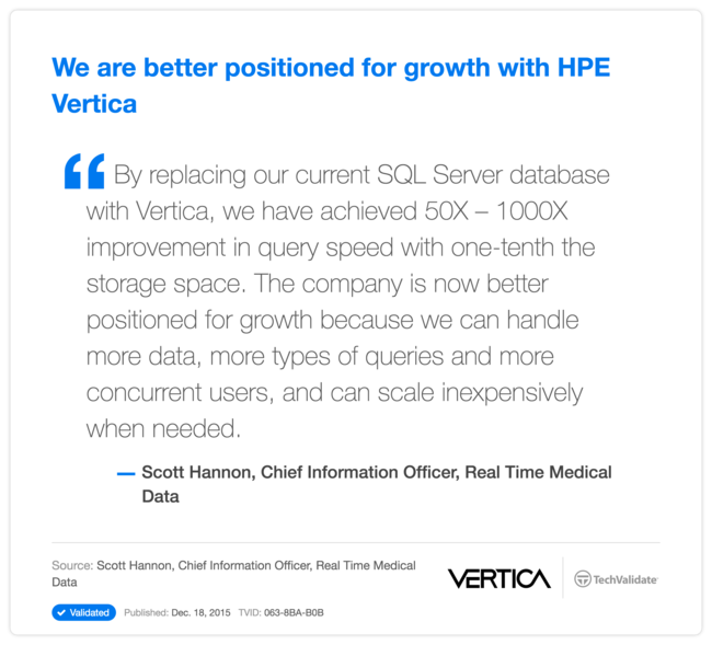 We are better positioned for growth with HP Vertica