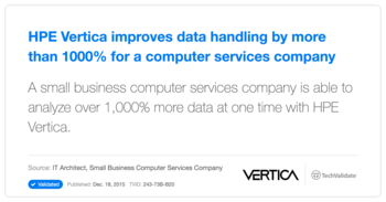 HP Vertica improves data handling by more than 1000% for a computer services company