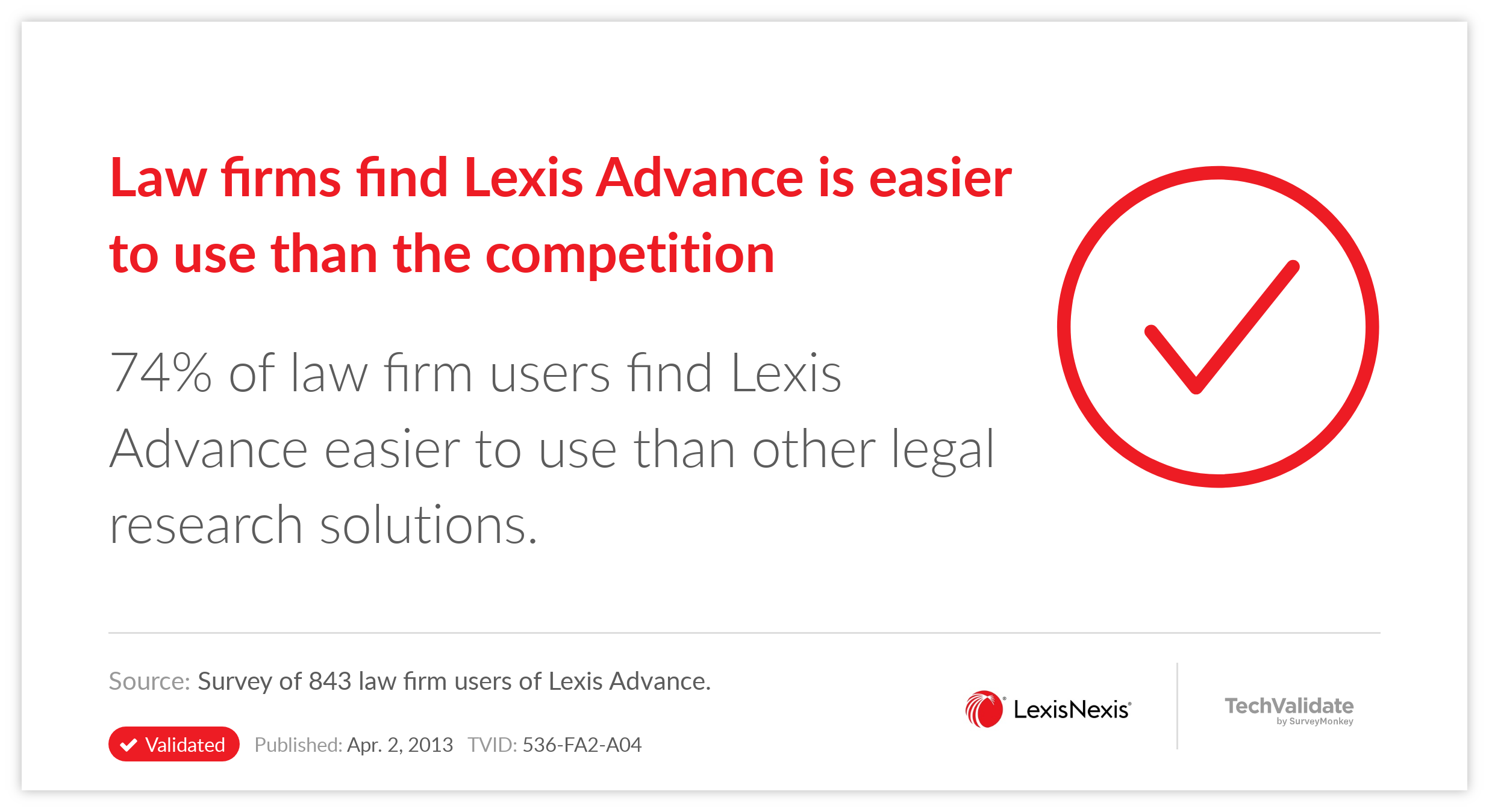 Law firms find Lexis Advance is easier to use than the competition