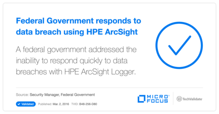 Federal Government responds to data breach using HP ArcSight