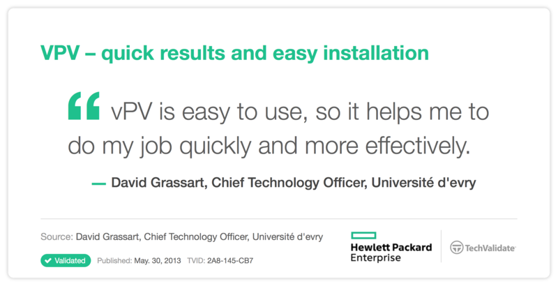 VPV - quick results and easy installation