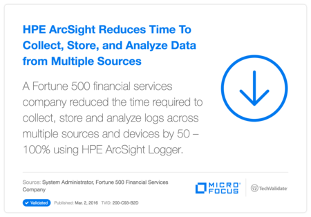 HP ArcSight Reduces Time To Collect, Store, and Analyze Data from Multiple Sources