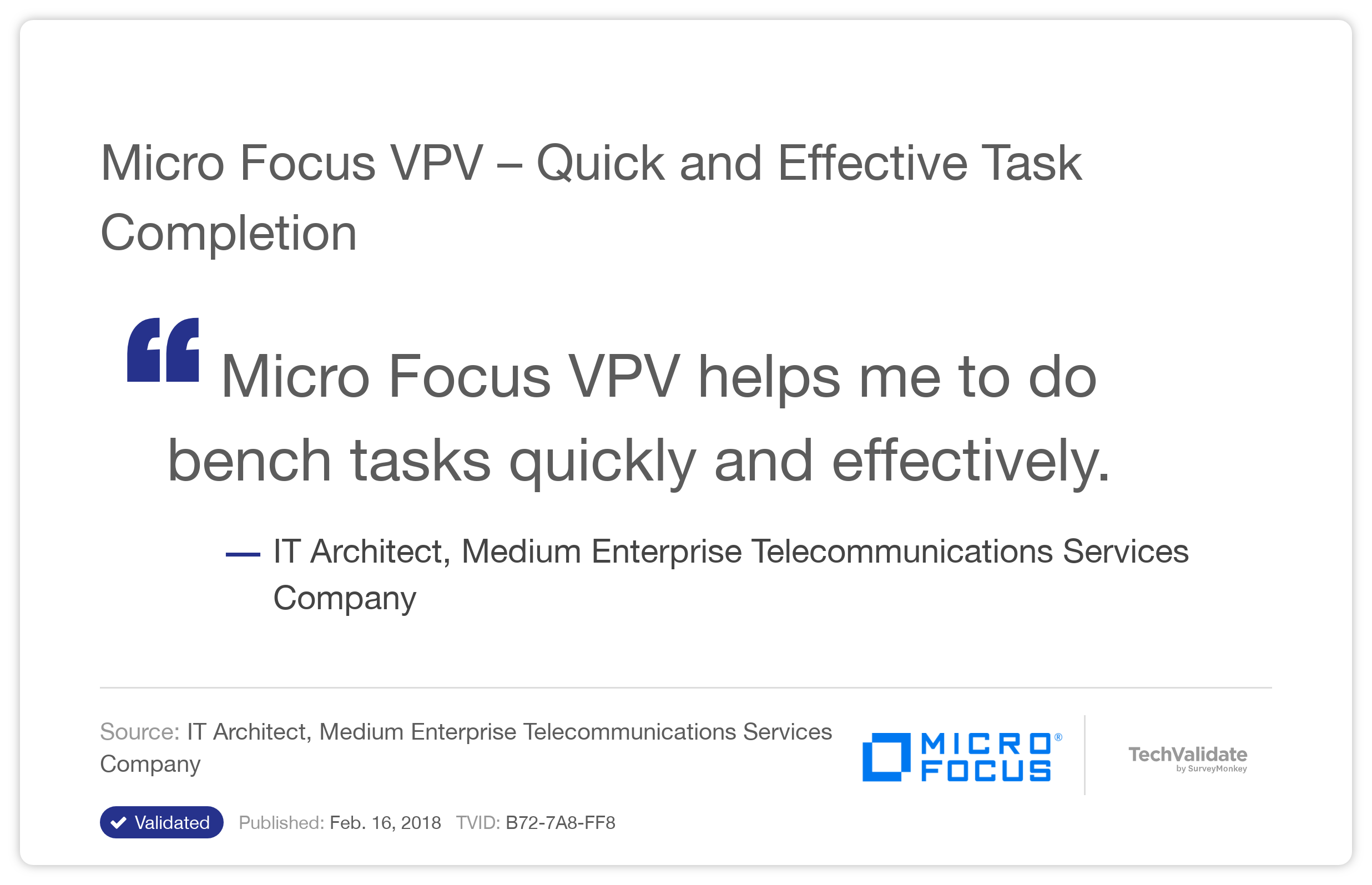 HP VPV - Quick and Effective Task Completion