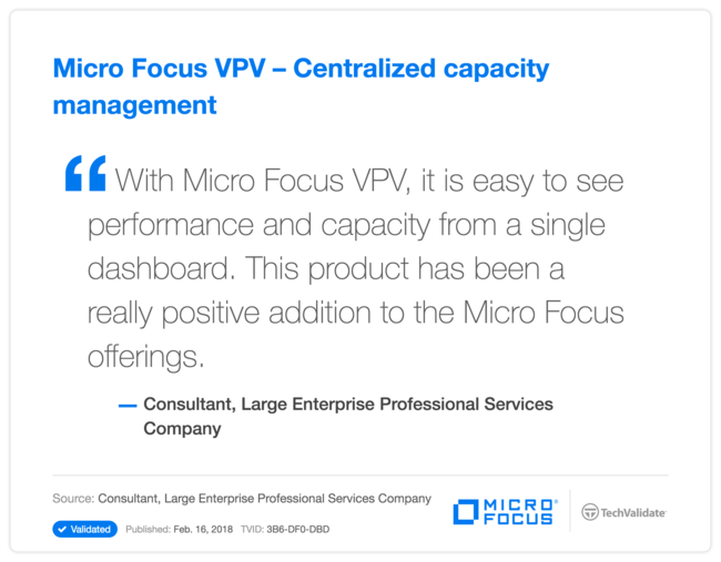 HP VPV - Centralized capacity management