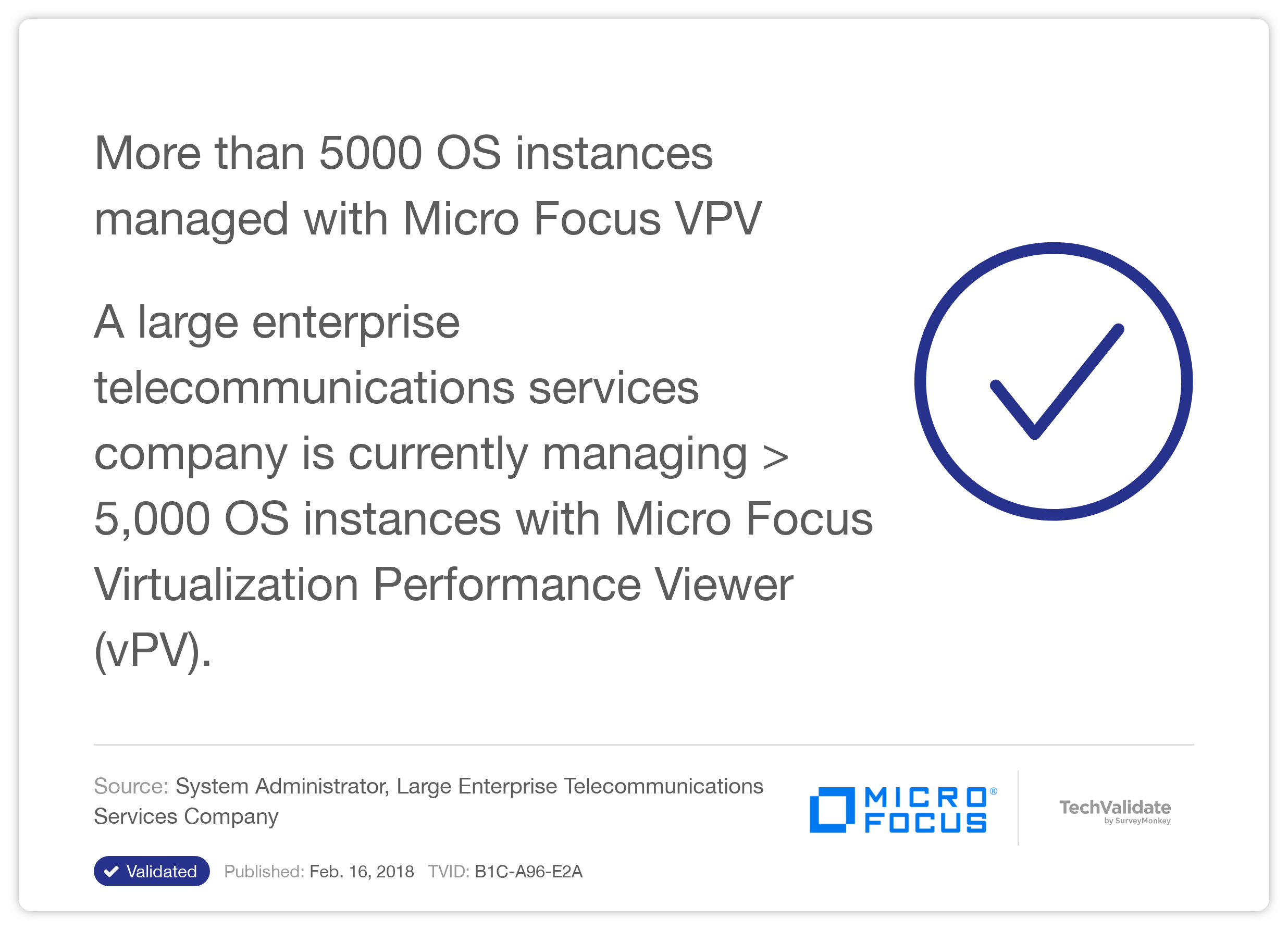 More than 5000 OS instances managed with HP VPV