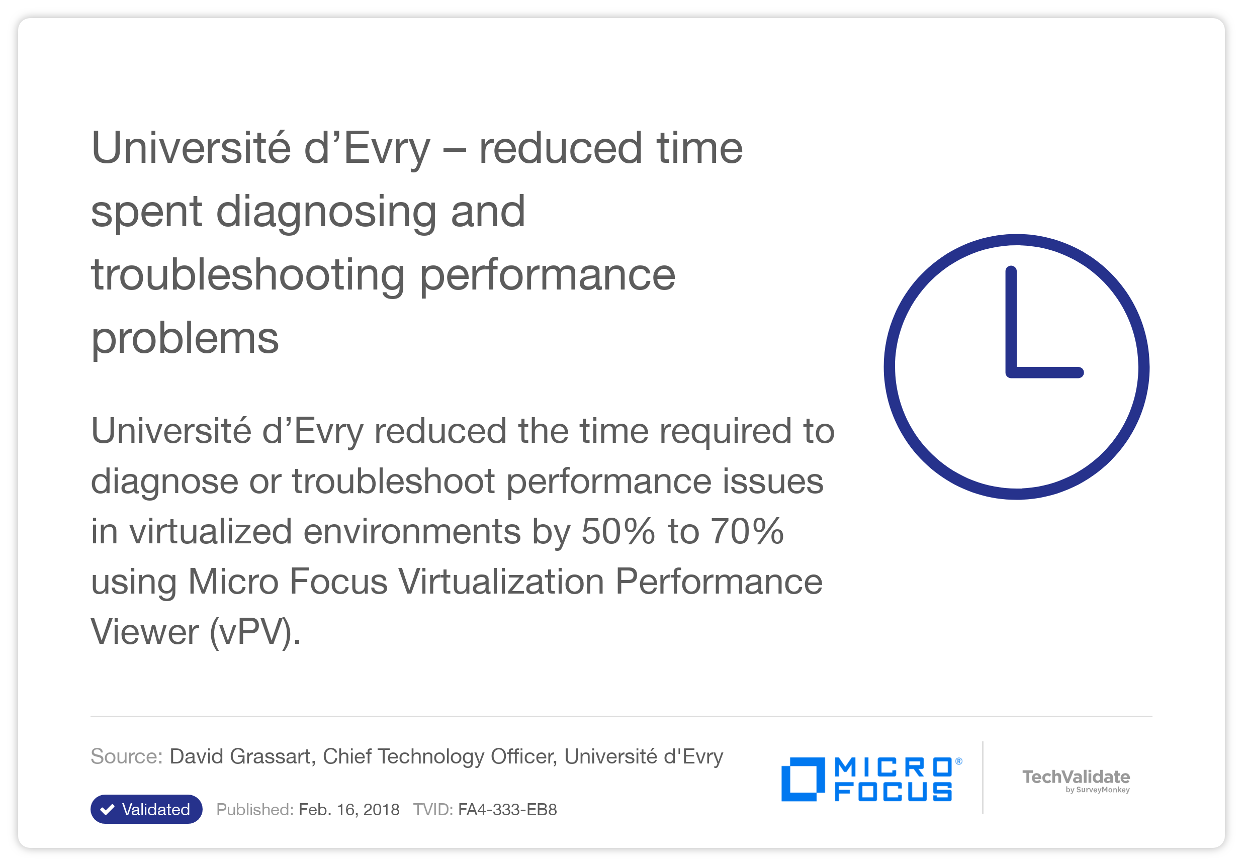 Université d'Evry - reduced time spent diagnosing and troubleshooting performance problems with HP vPV