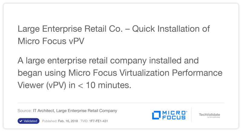 Large Enterprise Retail Co. - Quick Installation of HP vPV