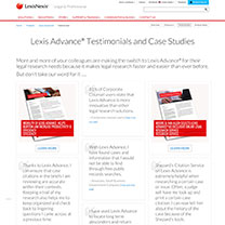 Lexis Advance Product Page