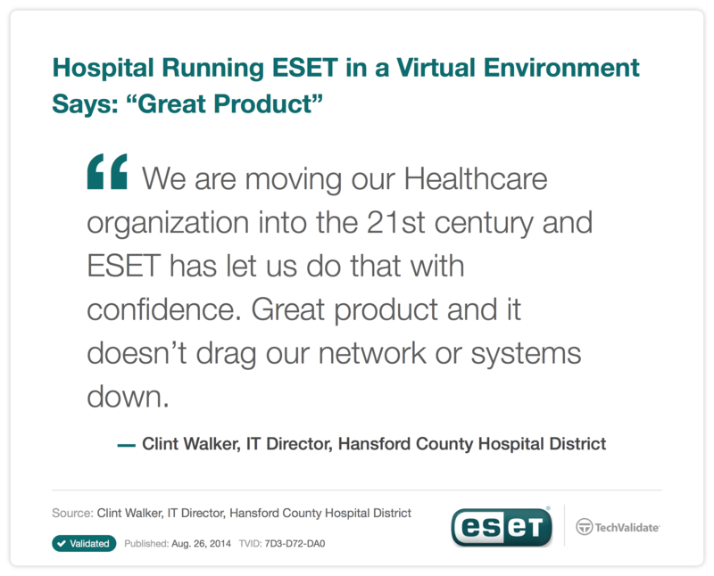 ESET Security Testimonial