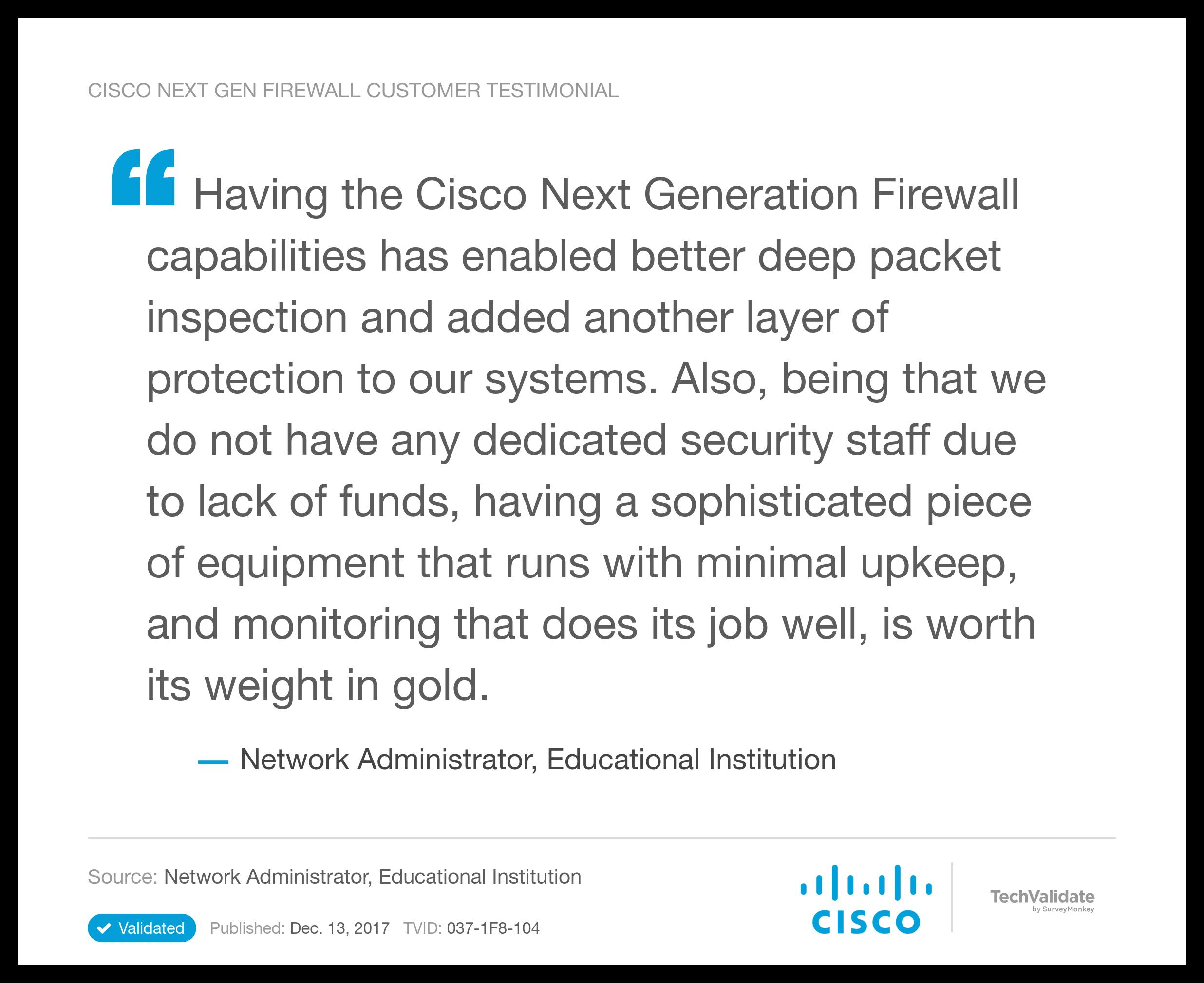 Cisco NG Firewall TechFact: Cisco Next Gen Firewall Customer