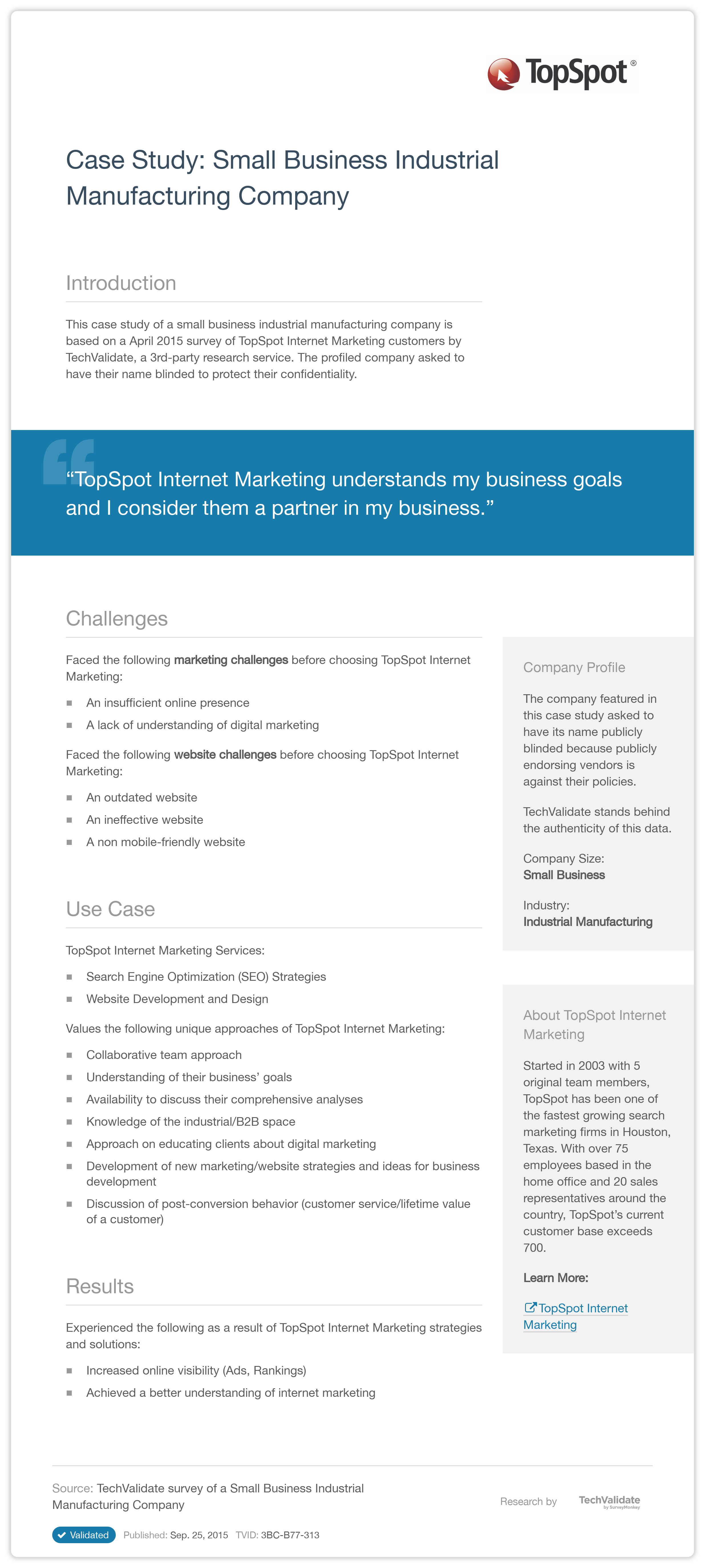 small business marketing case study 5 outstanding facebook marketing case studies september 28, 2017  four social media marketing tips for your small business november 1, 2017.