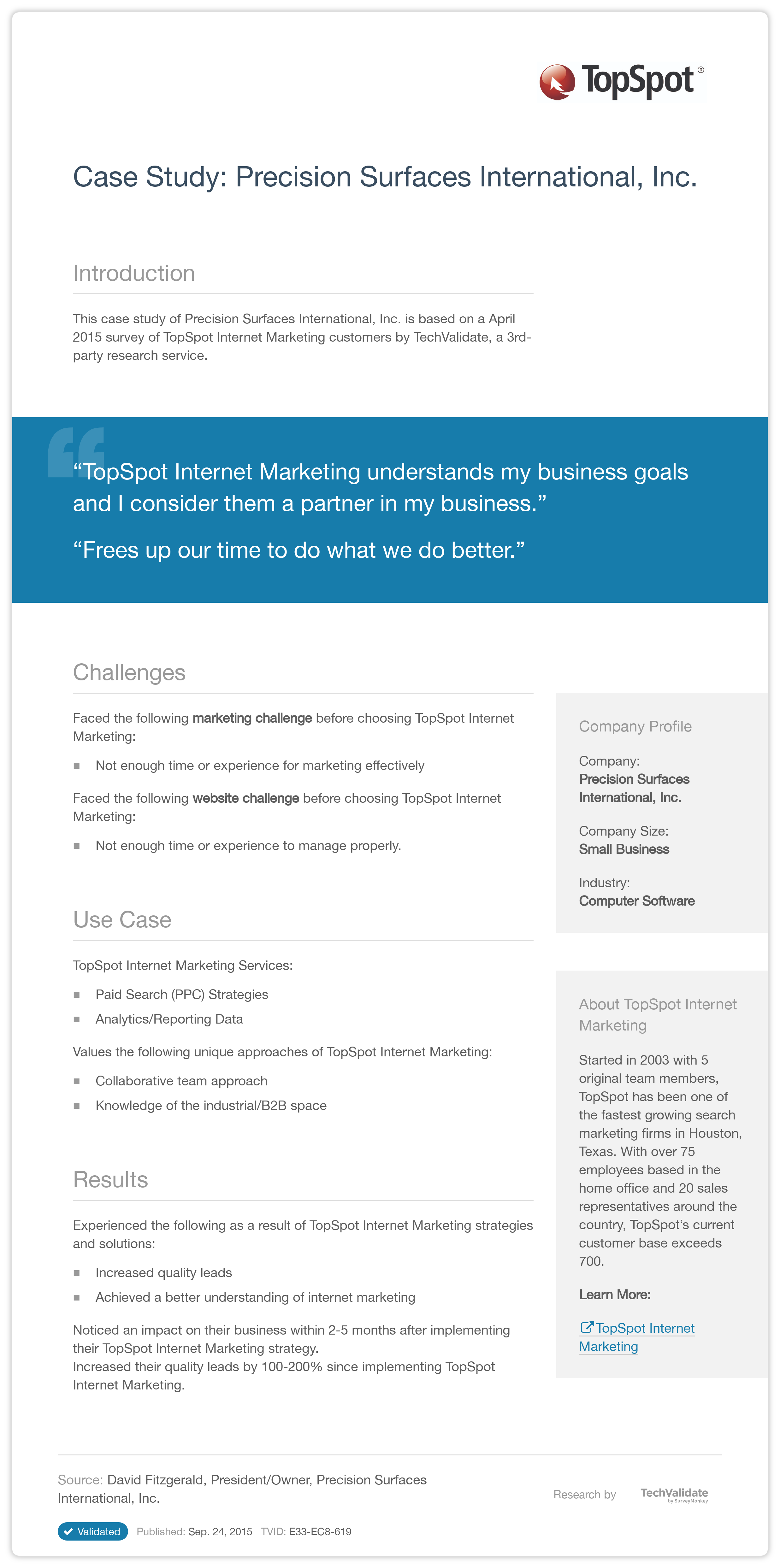 internet marketing case studies We have seen a lot of success over the years with our internet marketing and  have put together several case studies read them and then give us a call.