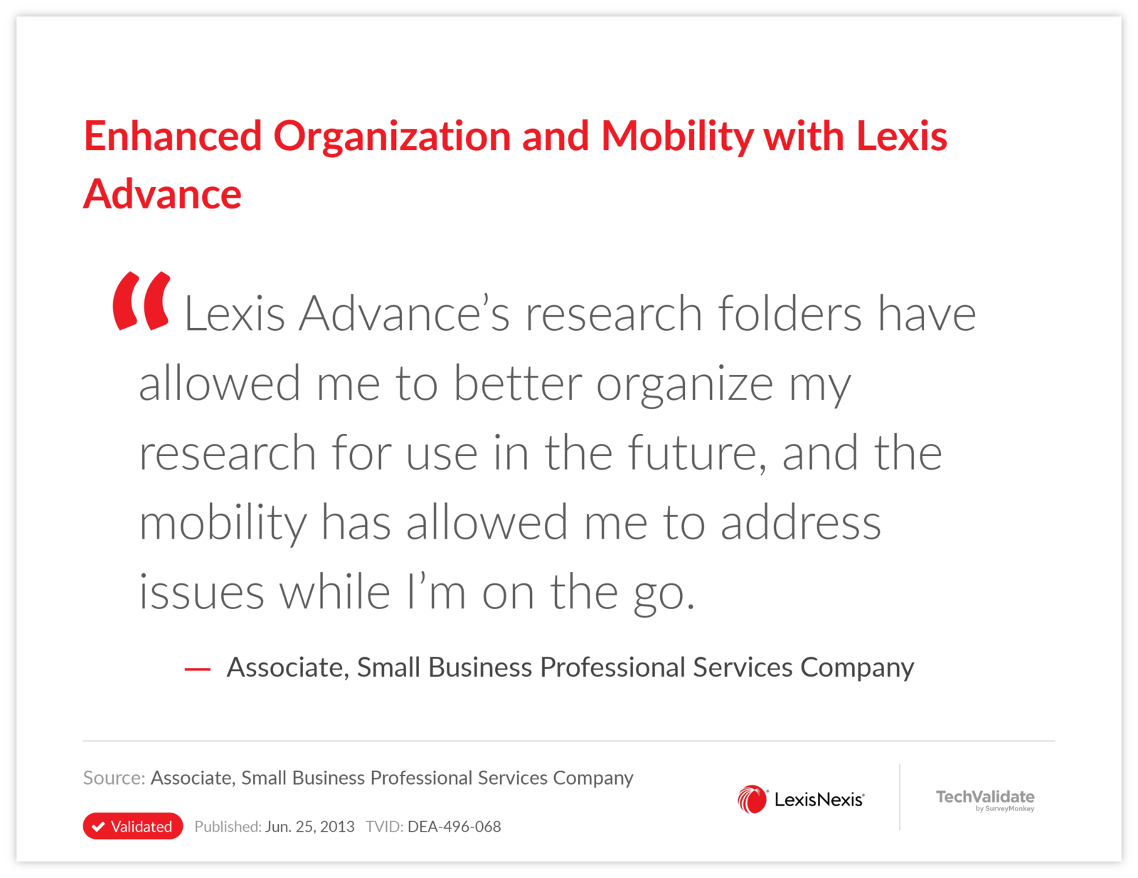 Enhanced Organization and Mobility with Lexis Advance