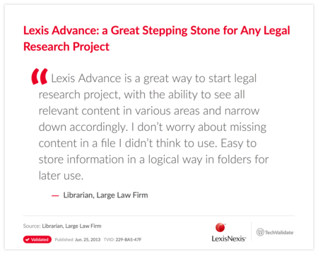 Lexis Advance: a Great Stepping Stone for Any Legal Research Project
