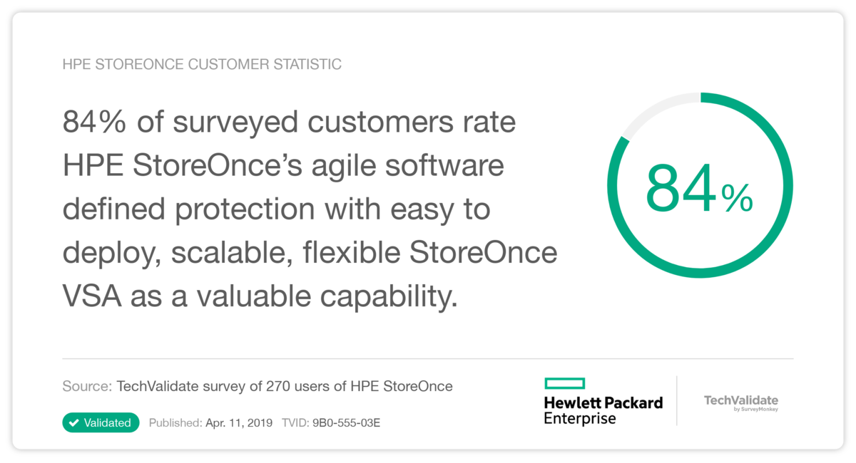 HPE StoreOnce Customer Statistic