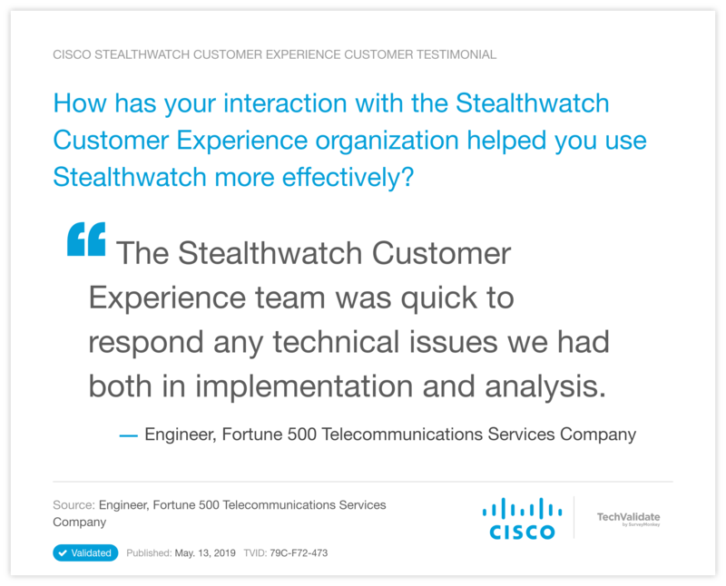 How has your interaction with the Stealthwatch Customer Experience organization helped you use Stealthwatch more effectively?