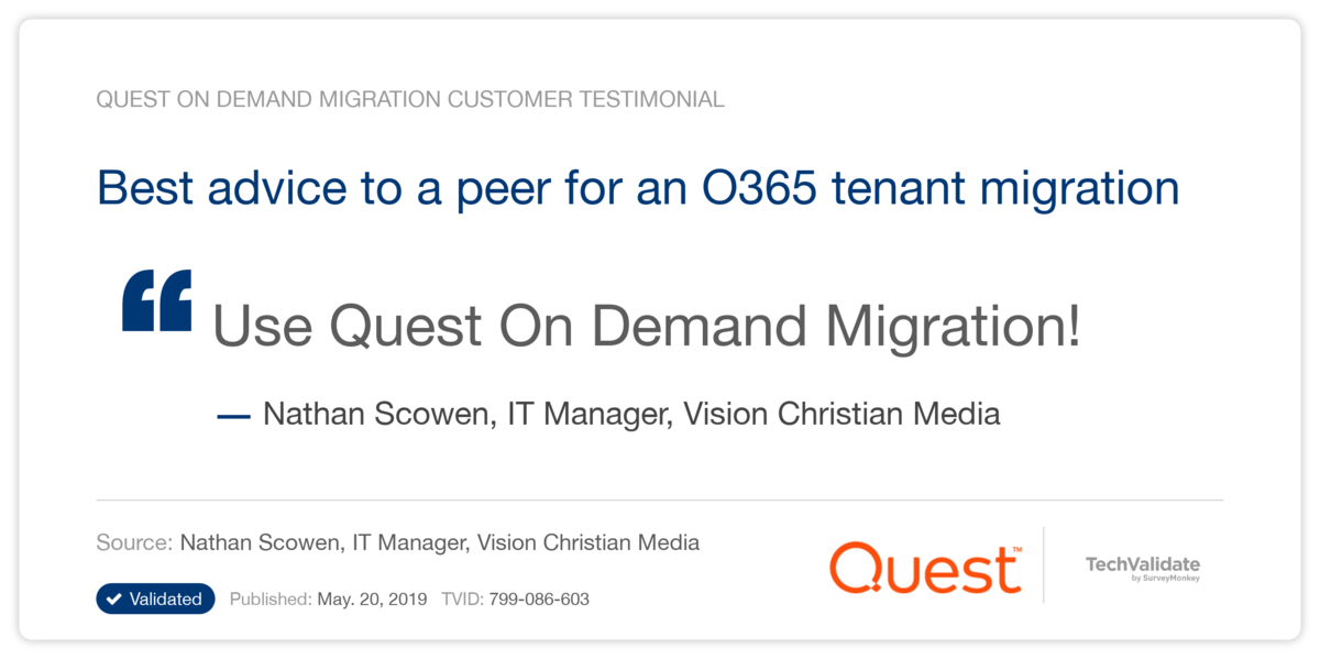 Best advice to a peer for an O365 tenant migration