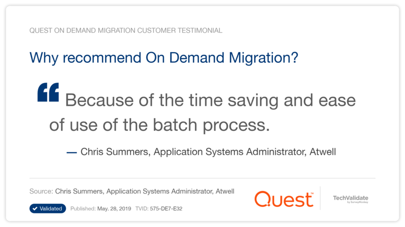 Why recommend On Demand Migration?