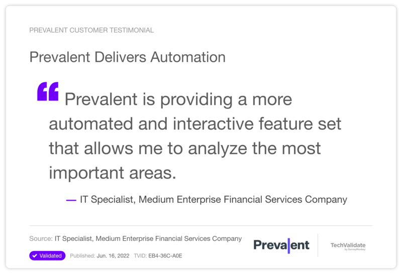 Prevalent Delivers Automation