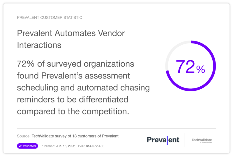 Prevalent Automates Vendor Interactions