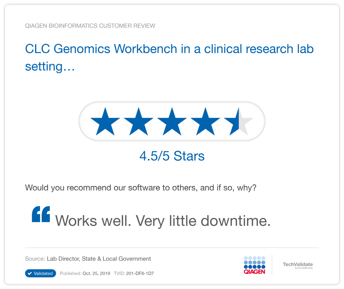 CLC Genomics Workbench in a clinical research lab setting...