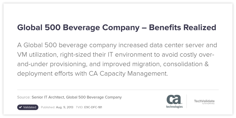 Global 500 Beverage Company-Benefits Realized