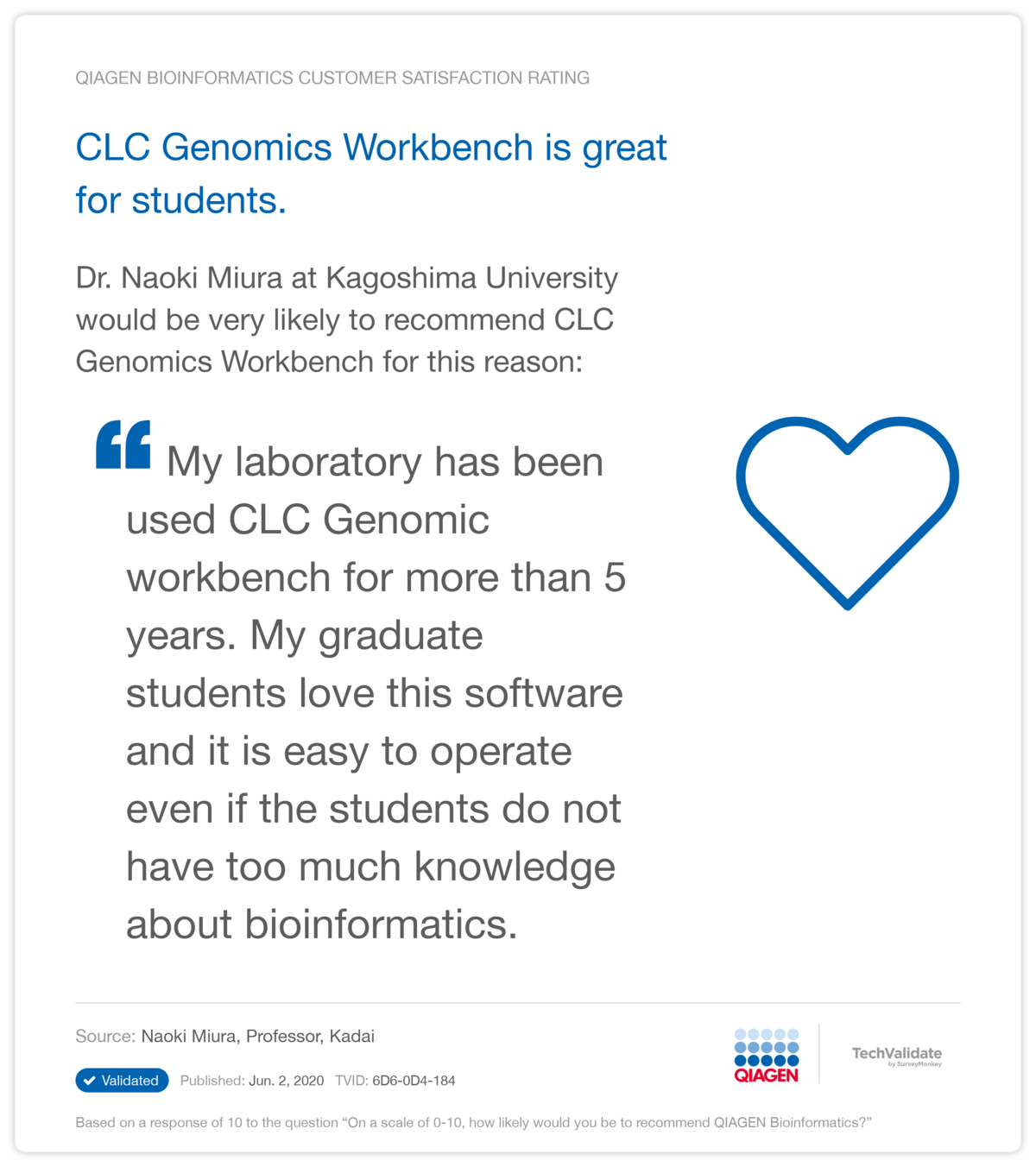 CLC Genomics Workbench is great for students.