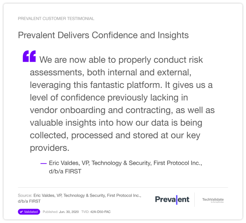 Prevalent Delivers Confidence and Insights
