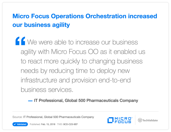 HPE Operations Orchestration increased our business agility