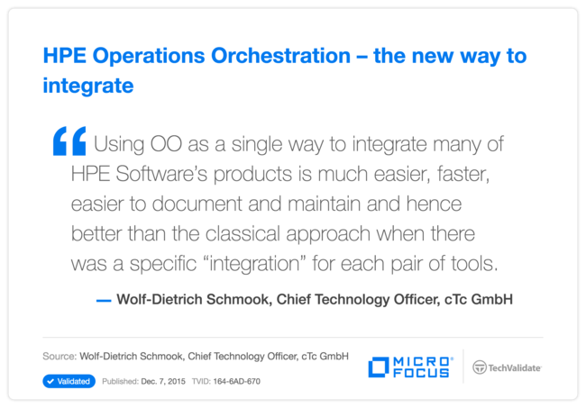HPE Operations Orchestration-the new way to integrate