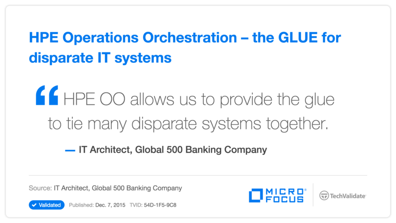 HPE Operations Orchestration-the GLUE for disparate IT systems