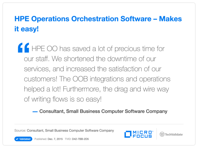 HPE Operations Orchestration Software-Makes it easy!