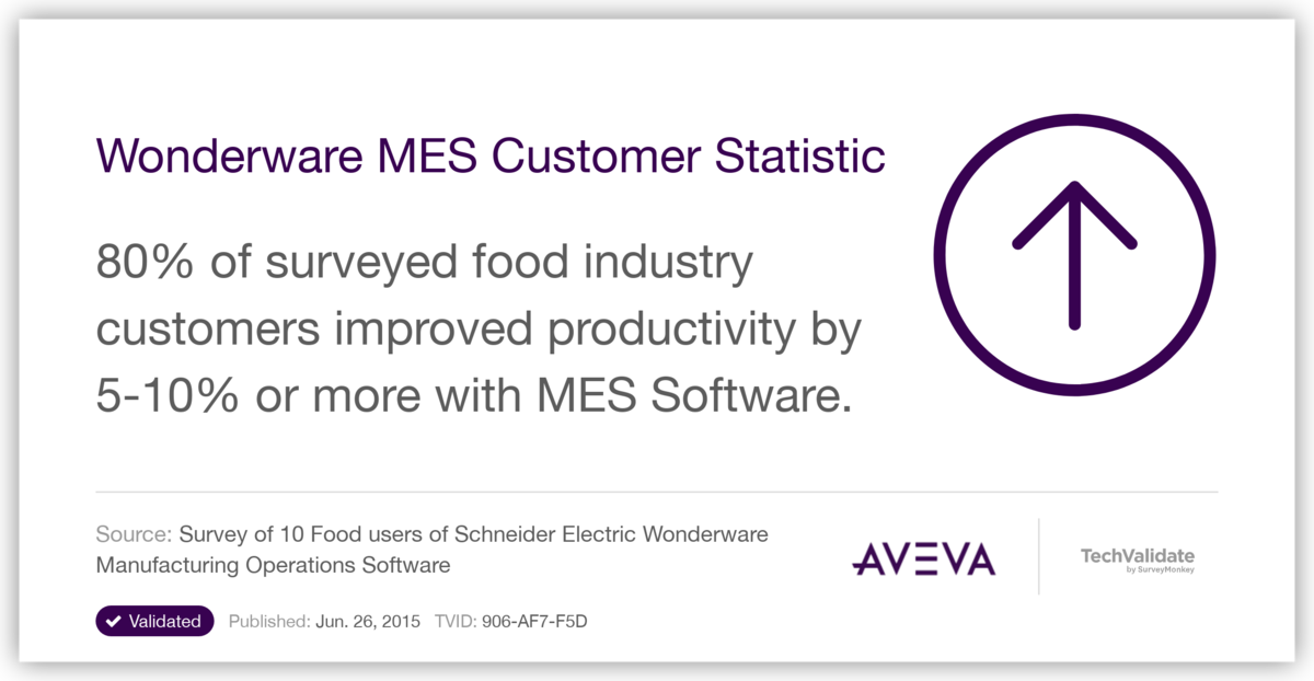 Wonderware MES Customer Statistic