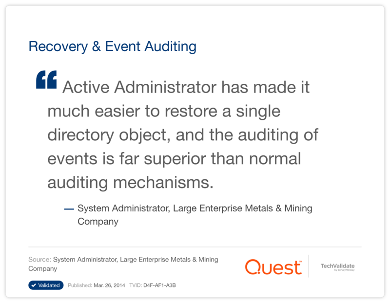 Recovery & Event Auditing