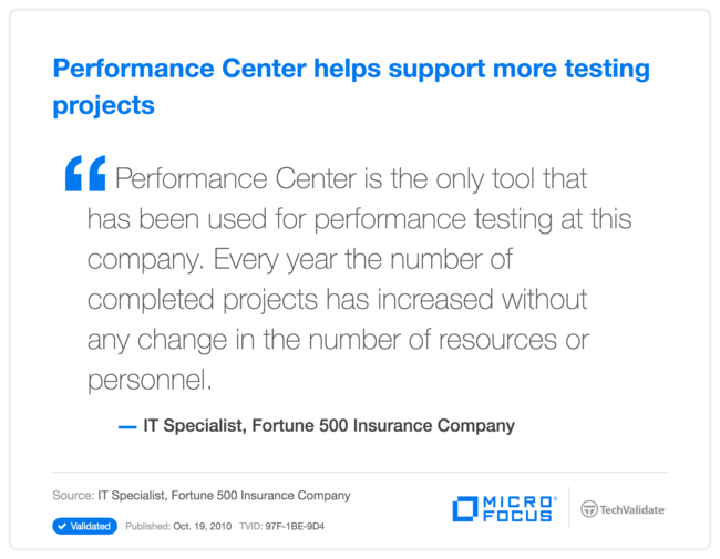 Performance Center helps support more testing projects
