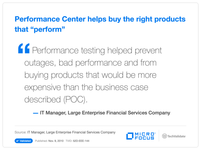 "Performance Center helps buy the right products that ""perform"""