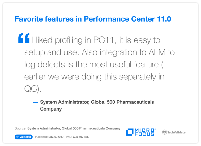 Favorite features in Performance Center 11.0